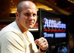 """June 3, 2009; New York, NY, USA; Fedor Emelianenko at the press conference announcing his fight against Josh Barnett at Affliction M-1 Global's """"Trilogy"""".  The two will meet on August 1, 2009 at the Honda Center in Anaheim, CA."""