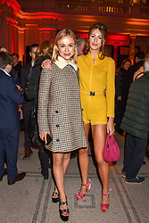 Lady Amelia Windsor and Poppy Fordham at the Mary Quant VIP Preview at The Victoria & Albert Museum, London, England. 03 April 2019. <br /> <br /> ***For fees please contact us prior to publication***