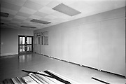 12/07/1967<br /> 07/12/1967<br /> 12 July 1967<br /> Partitions at Norwich Union Building, Nassau Street, Dublin. Image shows partition walls being installed.