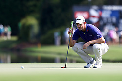 September 22, 2017 - Atlanta, Georgia, United States - Justin Rose lines up a putt on the 15th green during the second round of the TOUR Championship at the East Lake Club. (Credit Image: © Debby Wong via ZUMA Wire)