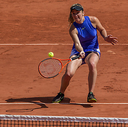 June 5, 2017 - Paris, France - Elina Svitolina of Ukraine returns the ball to Petra Martic of Croatia during the fourth round at Roland Garros Grand Slam Tournament - Day 9 on June 5, 2017 in Paris, France. (Credit Image: © Robert Szaniszlo/NurPhoto via ZUMA Press)