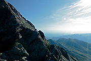 view on the way to the top of Pic Du Midi de Bigorre in the Pyrenees France