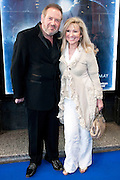 12.APRIL.2011. MANCHESTER<br /> <br /> MR AND MRS FLEECHMAN ARRIVING ON THE BLUE CARPET FOR GHOST THE MUSICAL AT THE OPERA HOUSE IN MANCHESTER.<br /> <br /> BYLINE: EDBIMAGEARCHIVE.COM<br /> <br /> *THIS IMAGE IS STRICTLY FOR UK NEWSPAPERS AND MAGAZINES ONLY*<br /> *FOR WORLD WIDE SALES AND WEB USE PLEASE CONTACT EDBIMAGEARCHIVE - 0208 954 5968*