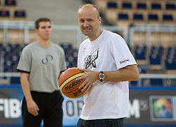 Head coach of Slovenia Jure Zdovc during the practice session, on September 11, 2009 in Arena Lodz, Hala Sportowa, Lodz, Poland.  (Photo by Vid Ponikvar / Sportida)