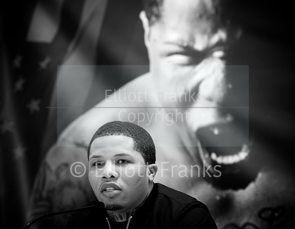 Floyd Mayweather Jr &amp; Frank Warren press conference at The Savoy Hotel, London, Great Britain <br /> 7th March 2017 <br /> <br /> <br /> <br /> Gervonta Davis <br /> (an American professional boxer who has held the IBF junior lightweight title since January 2017)<br /> <br /> <br /> Photograph by Elliott Franks <br /> Image licensed to Elliott Franks Photography Services