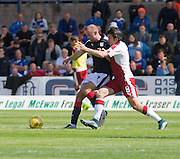 Dundee's James Vincent holds off Rangers' Joey Barton - Dundee v Rangers, Ladbrokes Scottish Premiership at Dens Park<br /> <br />  - © David Young - www.davidyoungphoto.co.uk - email: davidyoungphoto@gmail.com