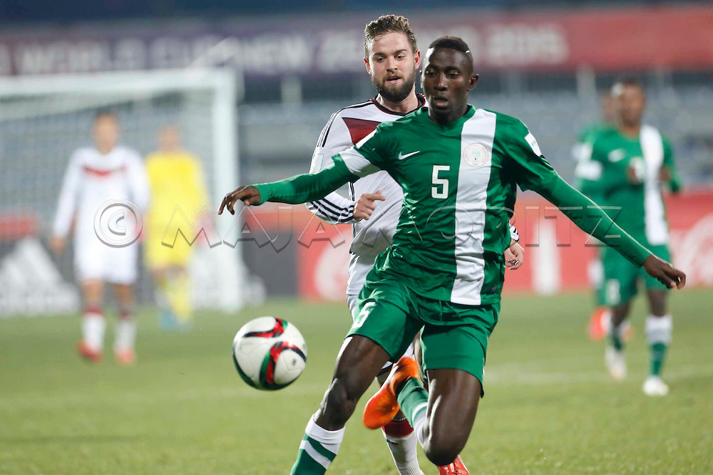 FIFA U20 World Cup New Zealand 2015, 11 June 2015, Christchurch, Germany - Nigeria, 1:0, Round of 16, Marc STENDERA (GER) and Onyinye NDIDI (NGA, 5)
