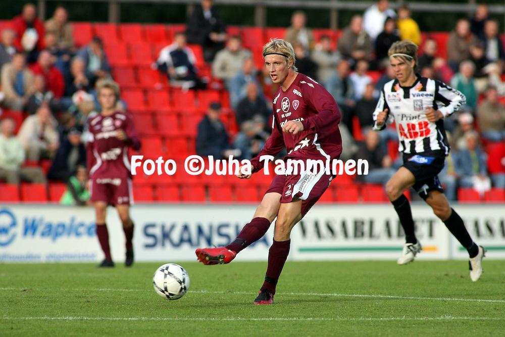 03.08.2008, Hietalahti, Vaasa, Finland..Veikkausliiga 2008 - Finnish League 2008.Vaasan Palloseura - FC Lahti.Jukka Veltheim - FC Lahti.©Juha Tamminen.....ARK:k