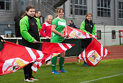 Flag bearers at Stoke Gifford Stadium - Mandatory by-line: Paul Knight/JMP - 19/03/2017 - FOOTBALL - Stoke Gifford Stadium - Bristol, England - Bristol City Women v Millwall Lionesses - Women's FA Cup