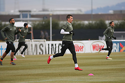 March 6, 2018 - Vinovo, Piedmont, Italy - Mario Mandzukic (Juventus FC) during the training on the eve of the second leg of the Round 16 of the UEFA Champions League 2017/18 between Juventus FC and Tottenham Hotspur FC at Juventus Training Center on 06 March, 2018 in Vinovo (Turin), Italy. (Credit Image: © Massimiliano Ferraro/NurPhoto via ZUMA Press)