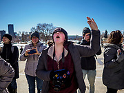 "15 MARCH 2019 - ST. PAUL, MINNESOTA, USA: A student chants during the MN Youth for Climate Justice ""Climate Strike"" at the Minnesota State Capitol in St. Paul, MN. Thousands of high school students braved below freezing temperatures and biting winds to demand action on climate change. The Minnesota Climate Strike was inspired by the strike by Greta Thunberg, a Swedish high school student, who started a climate strike at her school in August 2018.       PHOTO BY JACK KURTZ"