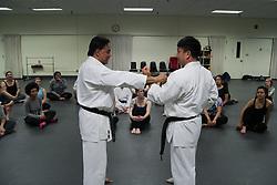 Self-defense training for women put on by PLU Karate Club in Columbia Center, 10/3/2017. Karate Club Women's Self-Defense Training, Fall 2017.
