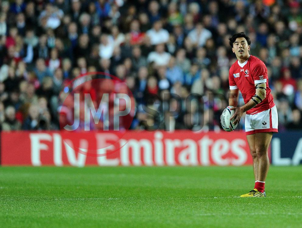 Nathan Hirayama of Canada  - Mandatory byline: Joe Meredith/JMP - 07966386802 - 01/10/2015 - Rugby Union, World Cup - Stadium:MK -Milton Keynes,England - France v Canada - Rugby World Cup 2015