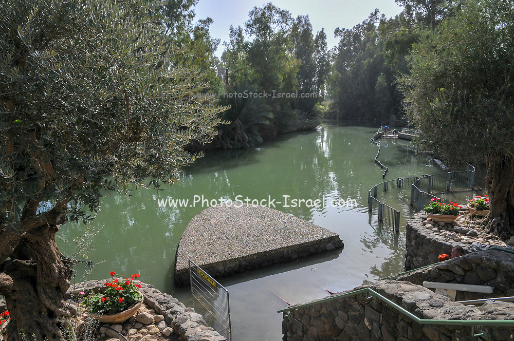 The Lower Jordan River (or Southern Jordan River) as seen from the point where Jesus Christ was baptized by John the Baptist