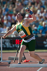HAMMAN Reinhardt, RSA, Shot Put, F38, 2013 IPC Athletics World Championships, Lyon, France