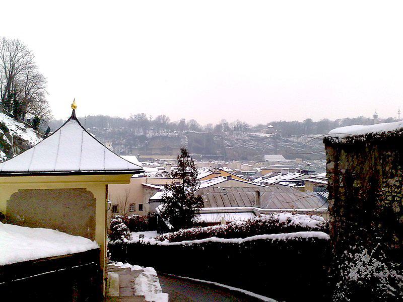 Salzburg church in winter