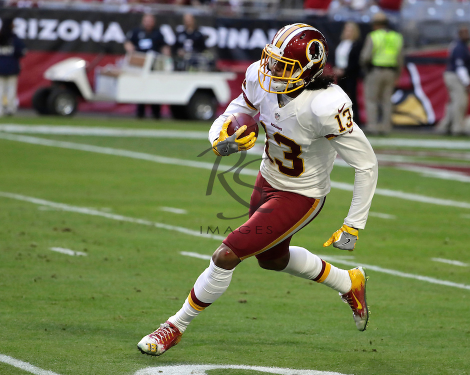 Washington Redskins wide receiver Maurice Harris (13) during an NFL football game against the Arizona Cardinals, Sunday, Dec. 4, 2016, in Glendale, Ariz. (AP Photo/Rick Scuteri)