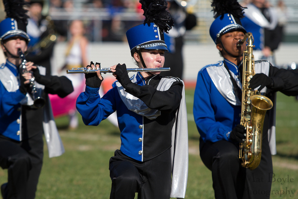 Oakcrest High School's marching band performs at the South Jersey Chapter Championships held at Clearview High School on Sunday October 21, 2012. (photo / Mat Boyle)
