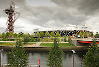 LONDON, ENGLAND - Wednesday 7 May 2014, a general view of the Olympic Stadium from the London Aquatic Centre inside the Queen Elizabeth Olympic Park in Stratford, London, host city of the London 2012 Olympic Games<br /> Photo by Roger Sedres/ImageSA