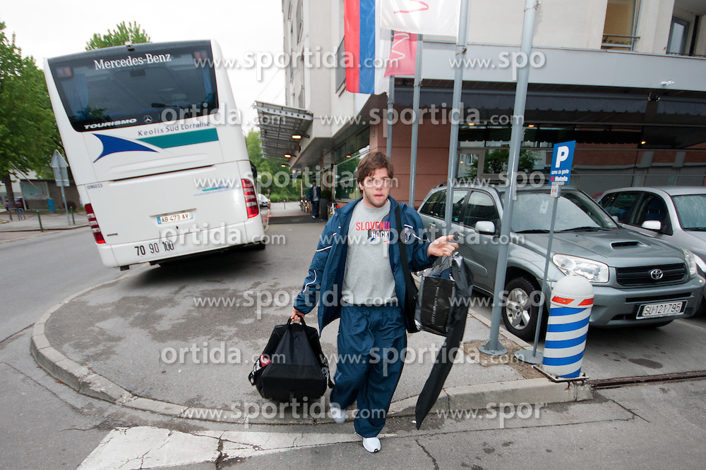 Rok Ticar at departure of Slovenian national team to Hockey IIHF WC 2011 in Bratislava, Slovakia, on April 28, 2011 in M Hotel, Ljubljana, Slovenia. (Photo by Matic Klansek Velej / Sportida)