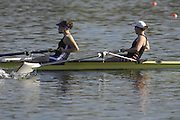 Hazenwinkel, BELGIUM,  Women's Pair[ W2-],  Bow Beth RODFORD and Natasha PAGE, in the last stroke of the morning time trial, at the GB Rowing Senior Trials, on Sun,15.04.2007  [Credit, Peter Spurrier/Intersport-images]   [Mandatory Credit, Peter Spurier/ Intersport Images]. , Rowing Course, Bloso, Hazewinkel. BELGUIM