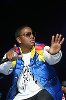 Yung Joc (glasses) performing during the Scream Tour at Madison Square Garden on December 23, 2006..<br />