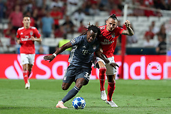 September 19, 2018 - Lisbon, Portugal - Bayern Munich's midfielder Renato Sanches from Portugal (L) vies with Benfica's Serbian midfielder Ljubomir Fejsa during the UEFA Champions League Group E football match SL Benfica vs Bayern Munich at the Luz stadium in Lisbon, Portugal on September 19, 2018. (Credit Image: © Pedro Fiuza/ZUMA Wire)