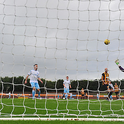 Berwick Rangers keeper Kevin Walker tries in vain to stop Forfar's opening goal....(c) BILLY WHITE | SportPix.org.uk