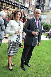 MR ANTHONY & LADY LOUISE BURRELL at a reception hosted by the Friends of the Castle of Mey held at the Goring Hotel, Beeston Place, London on 22nd May 2012.
