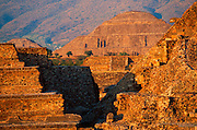 MEXICO, TEOTIHUACAN Quetzalcoatl Temple, Sun Pyramid