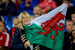 CARDIFF, WALES - Tuesday, November 14, 2017: A Wales supporter before the international friendly match between Wales and Panama at the Cardiff City Stadium. (Pic by David Rawcliffe/Propaganda)