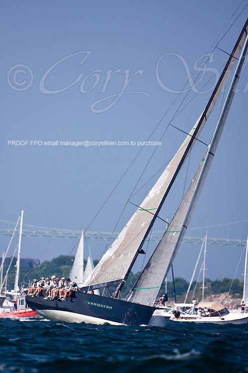 Vanquish sailing at the start of the Newport Bermuda Race 2010. The race began in Newport, Rhode Island on June 18, 2010.