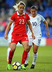 Elena Morozova of Russia and Fran Kirby of England - Mandatory by-line: Matt McNulty/JMP - 19/09/2017 - FOOTBALL - Prenton Park - Birkenhead, United Kingdom - England v Russia - FIFA Women's World Cup Qualifier