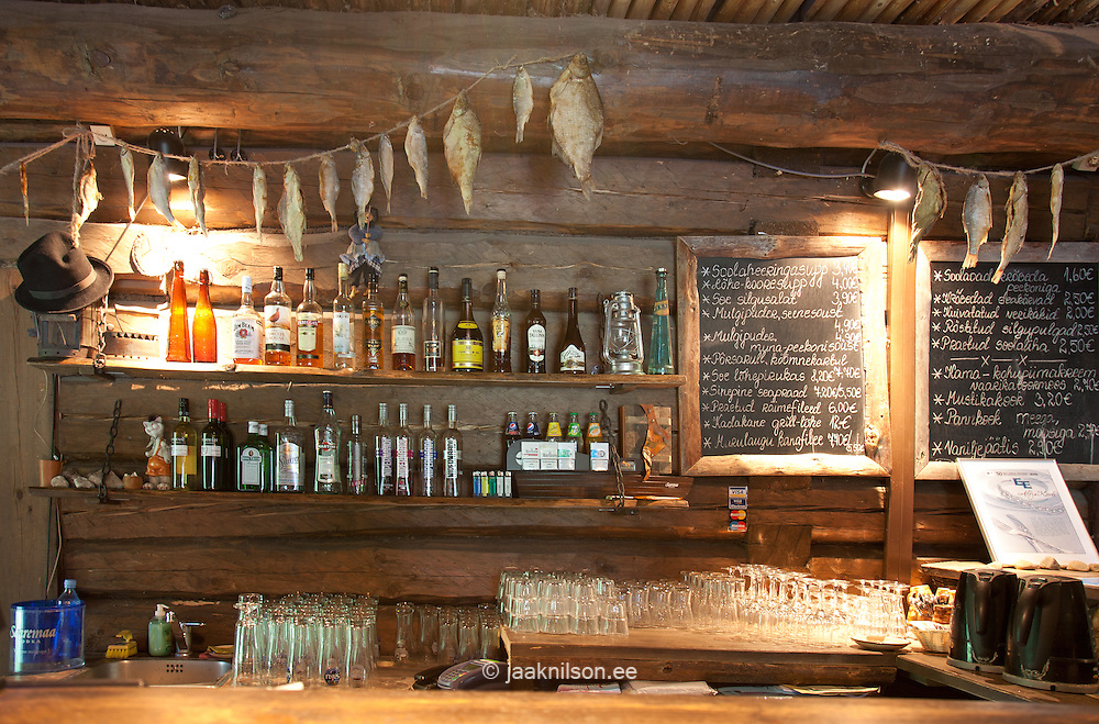 Bar With Rustic Decor Altja Inn In Estonia Alcohol