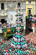 primer descarregat tres de deu castellers de vilafranca,sant felix 2013,30-8-2013