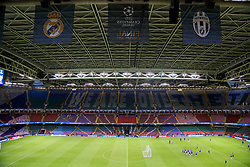 CARDIFF, WALES - Friday, June 2, 2017: The roof is closed during a Real Madrid training session ahead of the UEFA Champions League Final between Juventus FC and Real Madrid CF at the Stadium of Wales. (Pic by David Rawcliffe/Propaganda)