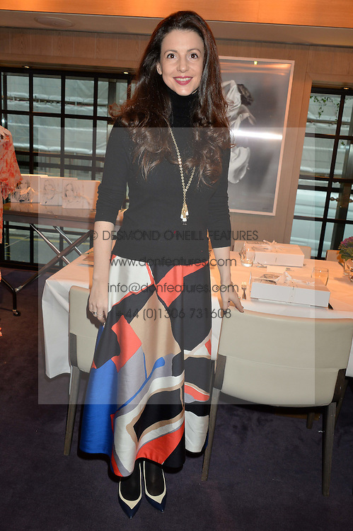 LONDON, ENGLAND 2 DECEMBER 2016: <br /> Shirley Leigh-Wood Oakes at a breakfast attended by a host of influencers, press and VIPs to celebrate the official launch of EVARAE the new British luxury resort wear brand, held at The Hari Hotel, 20 Chesham Place, London.  England. 2 December 2016.