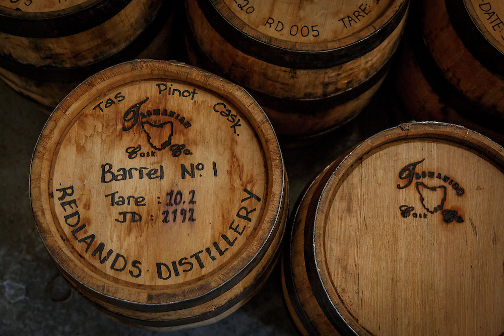 Barrel No. 1 at Redlands Estate Distillery in Plenty, Tasmania, August 25, 2015. Gary He/DRAMBOX MEDIA LIBRARY