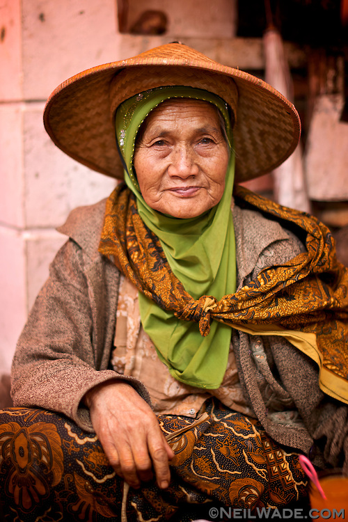 A portrait of a vendor at one of the traditional markets in Dieng, Indonesia.