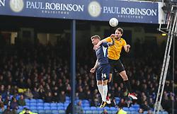 Edward Upson of Bristol Rovers wins a header - Mandatory by-line: Arron Gent/JMP - 07/03/2020 - FOOTBALL - Roots Hall - Southend-on-Sea, England - Southend United v Bristol Rovers - Sky Bet League One
