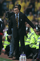 Photo: Paul Thomas.<br /> Watford v Manchester United. The FA Cup, Semi Final. 14/04/2007.<br /> <br /> A not so happy manager of Watford, Aidy Boothroyd,