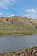 Crow Indian Reservation, Montana, Crow Indian Horses, Medicine Tail Coulee, Little Bighorn River