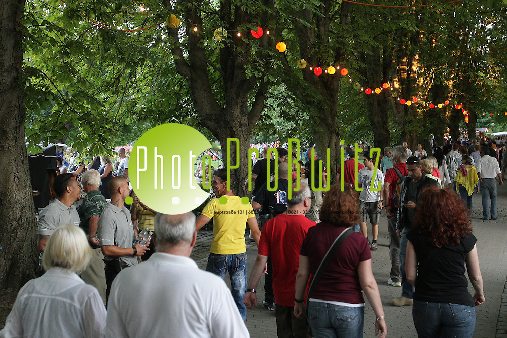 Mannheim. 07.07.2012. Herzogenriedpark. Parkfest. Sommerfest 2012. <br /> <br /> <br /> Bild: Markus Proflwitz 08JUL12 / masterpress /