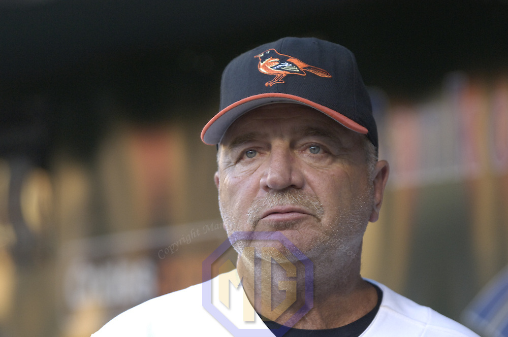 05 August 2006:  The Baltimore Orioles pitching coach Leo Mazzone in action against the New York Yankees.  The Orioles defeated the Yankees on a one hit shutout 5-0 at Orioles Park at Camden Yards in Baltimore, MD.
