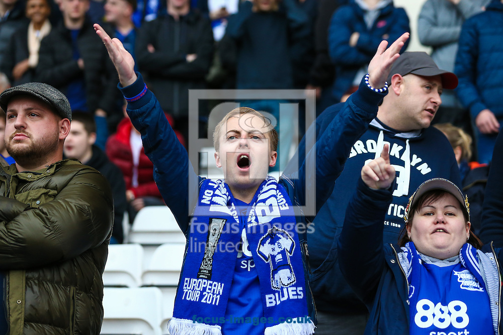 Birmingham fans during the Sky Bet Championship match at St Andrews, Birmingham<br /> Picture by Andy Kearns/Focus Images Ltd 0781 864 4264<br /> 30/10/2016