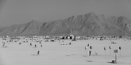A black and white version of the playa