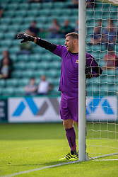 Alloa Athletic's keeper Neil Parry. Hibernian 2 v 0 Alloa Athletic, Betfred Cup game played Saturday 20th July at Easter Road, Edinburgh.