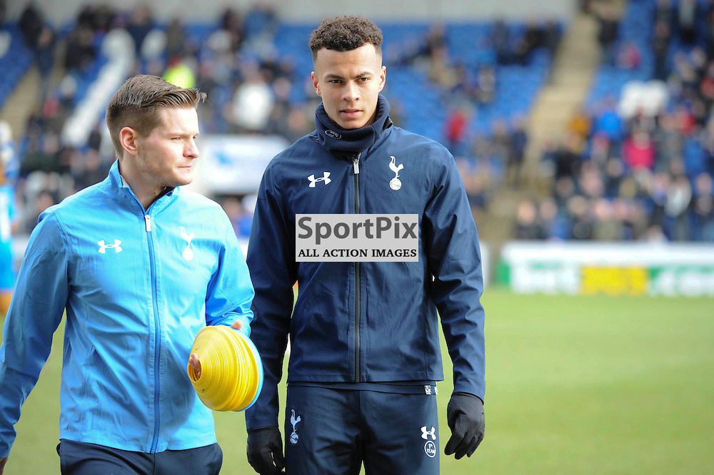 Tottenhams Dele Alli prior to the Colchester v Tottenham game in the FA Cup 4th Round on the 30th January 2016.