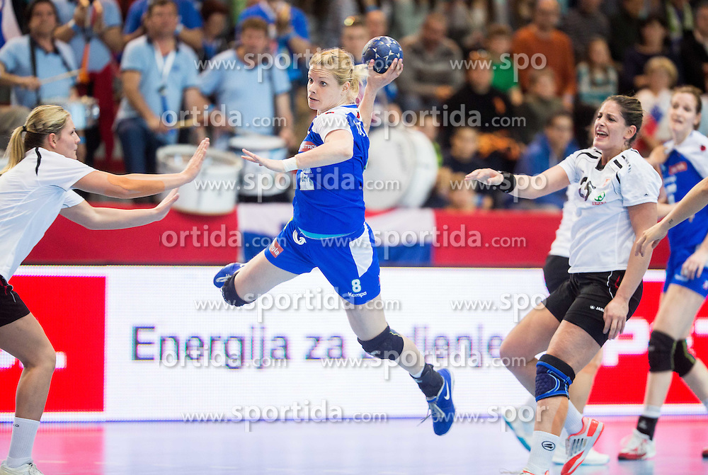 Neza Mitrusevska of Slovenia during handball game between Women National Teams of Slovenia and Switzerland in 2014 Women's European Championship Qualification, on March 30, 2014 in Arena Kodeljevo, Ljubljana, Slovenia. Photo by Vid Ponikvar / Sportida