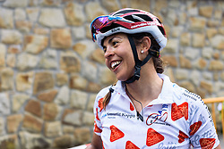 Carmen Small came close but is happy with ther second place - Emakumeen Bira 2016 Stage 3 - A 105 km road stage starting and finishing in Berriatua, Spain on 16th April 2016.